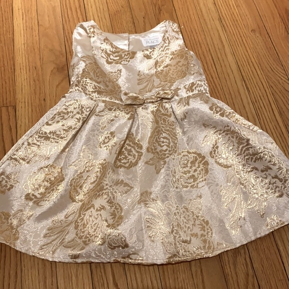 Girls 4t gold party dress